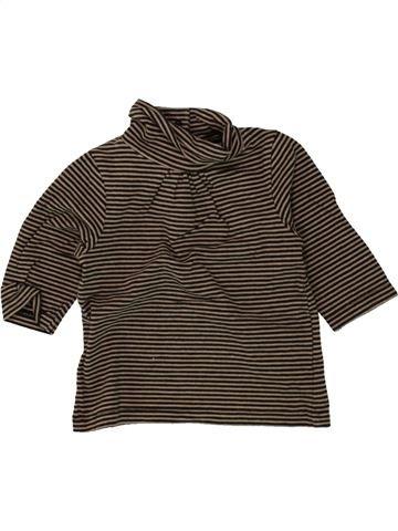 T-shirt col roulé fille VERTBAUDET marron 3 mois hiver #1496081_1