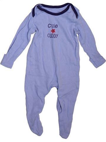 Pyjama 1 pièce garçon GEORGE bleu 3 mois été #1496259_1