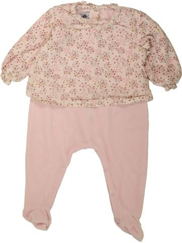 Pyjama 1 pièce fille PETIT BATEAU beige 12 mois hiver #1496298_1