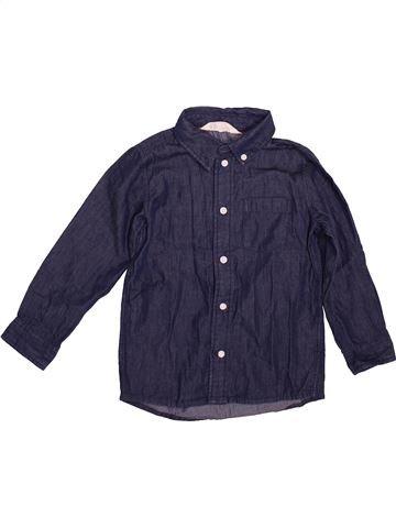 Chemise manches longues garçon H&M bleu 4 ans hiver #1496415_1