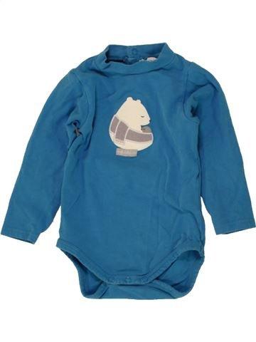 Camiseta de manga larga niño OKAIDI azul 12 meses invierno #1496444_1