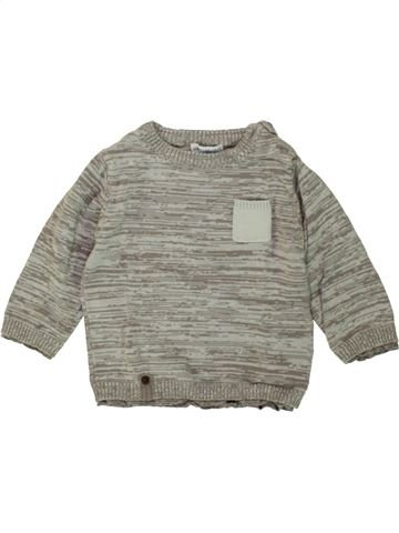 Pull garçon VERTBAUDET gris 12 mois hiver #1496450_1