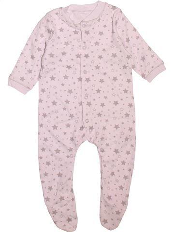 Pyjama 1 pièce garçon LILY & DAN blanc 6 mois été #1496613_1