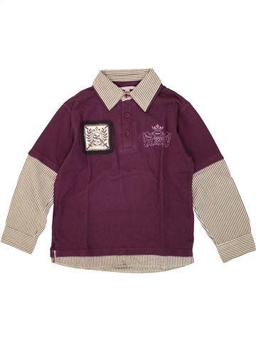 Polo manches longues garçon 3 SUISSES violet 8 ans hiver #1496654_1