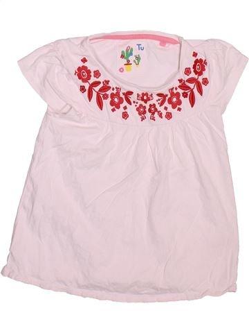 Camiseta de manga corta niña TU rosa 5 años verano #1496673_1