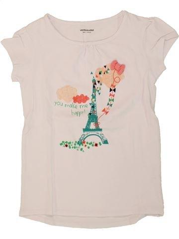 Camiseta de manga corta niña VERTBAUDET violeta 6 años verano #1496745_1