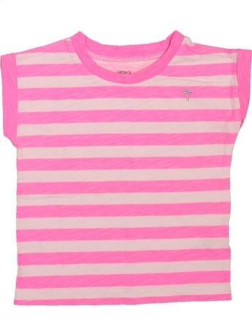 Camiseta de manga corta niña CARTER'S rosa 18 meses verano #1496765_1