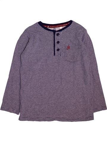 T-shirt manches longues garçon BHS violet 8 ans hiver #1496816_1