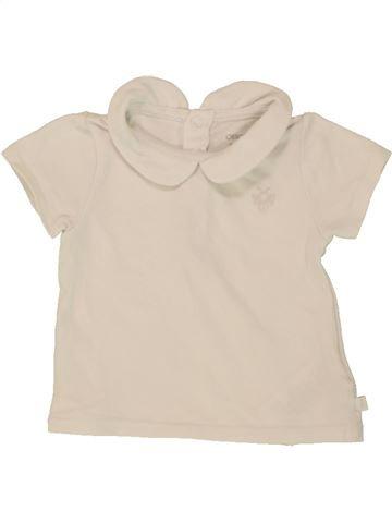 Camiseta de manga corta niña OKAIDI azul 3 meses verano #1496933_1
