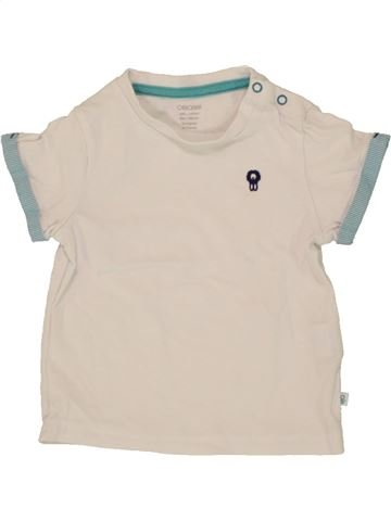 T-shirt manches courtes garçon OKAIDI bleu 6 mois été #1496935_1