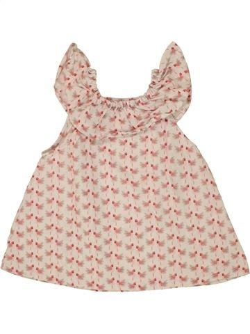 Blusa de manga corta niña OKAIDI rosa 3 años verano #1496997_1