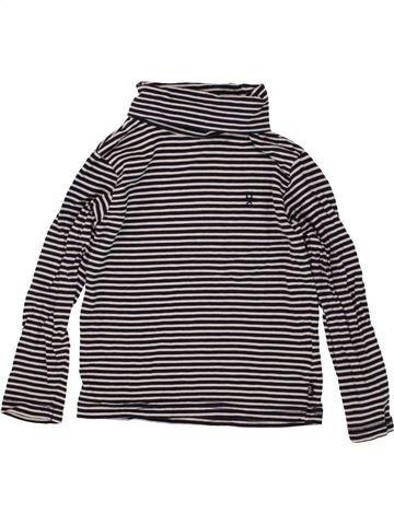 T-shirt col roulé fille OKAIDI beige 4 ans hiver #1497209_1