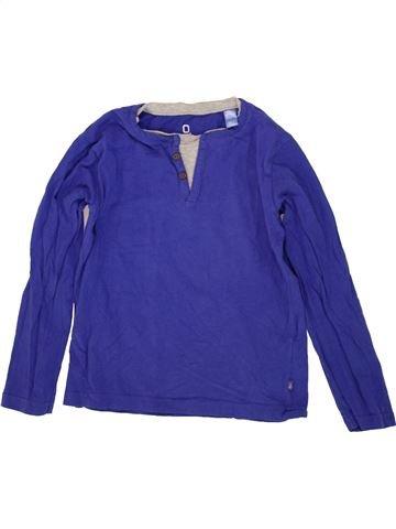 T-shirt manches longues garçon OKAIDI violet 6 ans hiver #1497245_1