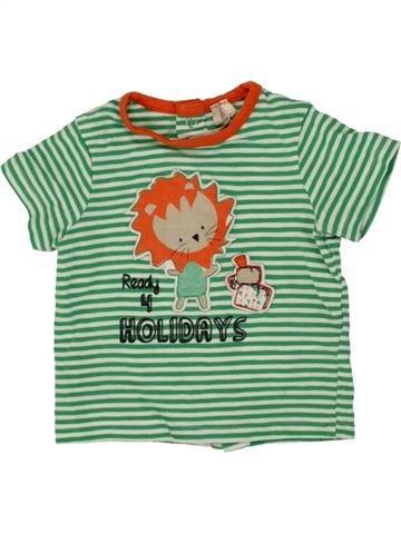 Camiseta de manga corta niño ORCHESTRA verde 3 meses verano #1497371_1