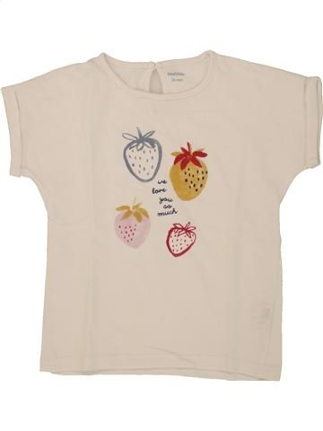 T-shirt manches courtes fille BOUT'CHOU bleu 3 ans été #1497382_1