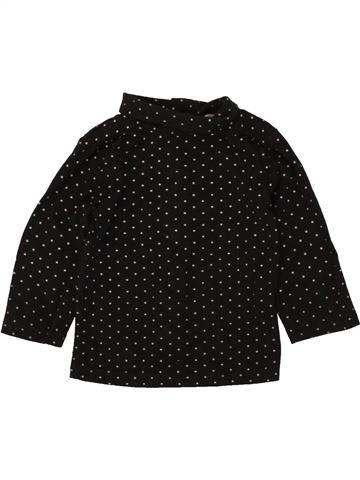 Camiseta de cuello alto niña KIABI negro 9 meses invierno #1497487_1