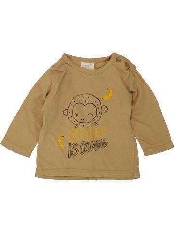 T-shirt manches longues garçon KIABI marron 3 mois hiver #1497495_1