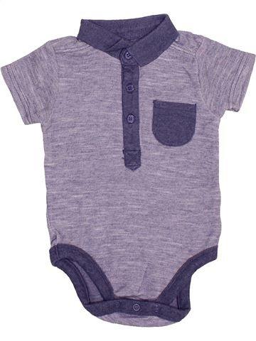 Polo de manga corta niño GEORGE gris 12 meses verano #1497614_1