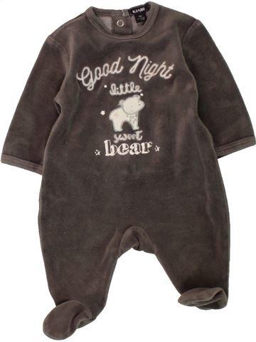 Pijama de 1 pieza niño KIABI marrón 1 mes invierno #1497690_1