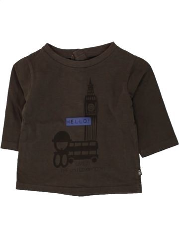 T-shirt manches longues garçon OKAIDI marron 3 mois hiver #1497878_1