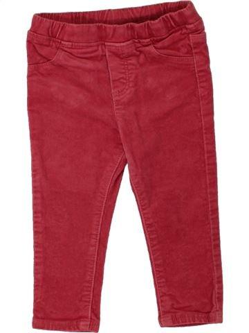 Pantalon fille OKAIDI rouge 18 mois hiver #1497916_1