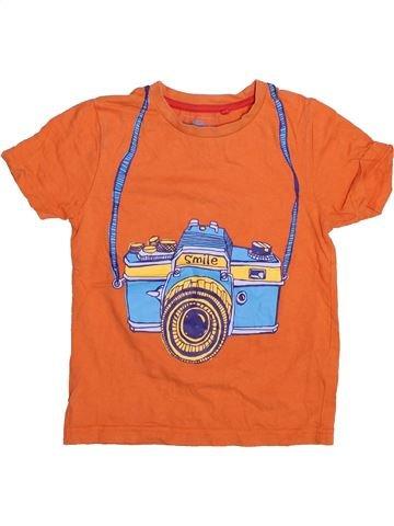 Camiseta de manga corta niño TU naranja 4 años verano #1497980_1