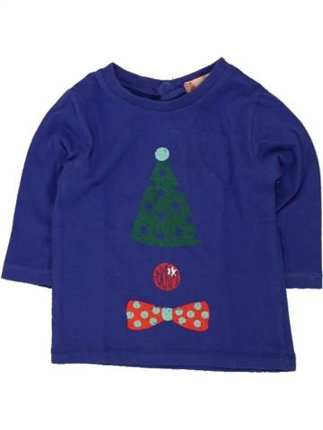 Camiseta de manga larga niño DPAM azul 3 meses invierno #1498071_1