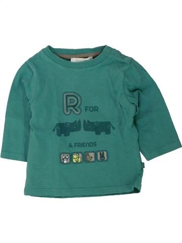 T-shirt manches longues garçon OKAIDI vert 3 mois hiver #1498131_1