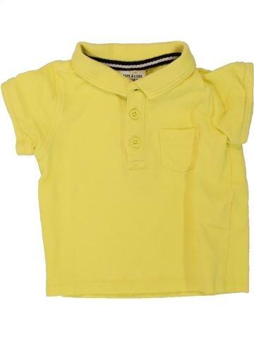 Polo manches courtes garçon TAPE À L'OEIL jaune 6 mois été #1498198_1
