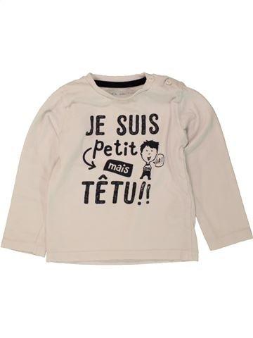 Camiseta de manga larga niño GEMO azul 12 meses invierno #1498234_1
