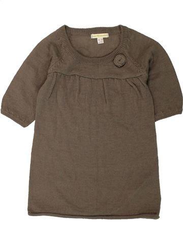 Vestido niña VERTBAUDET marrón 2 años invierno #1498268_1