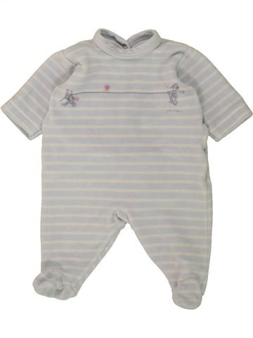 Pyjama 1 pièce garçon PETIT BATEAU gris 1 mois hiver #1498445_1