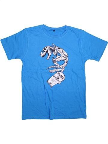 Camiseta de manga corta niño SANS MARQUE azul 12 años verano #1498496_1