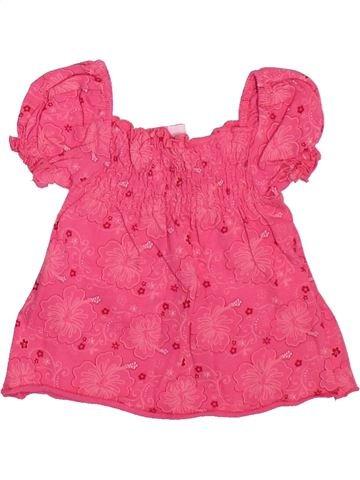 T-shirt manches courtes fille BERTI rose 3 mois été #1498507_1