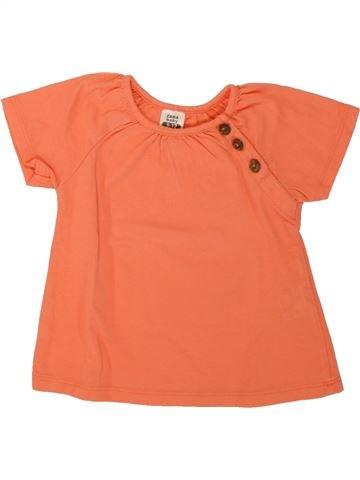 Camiseta de manga corta niña ZARA naranja 12 meses verano #1498508_1