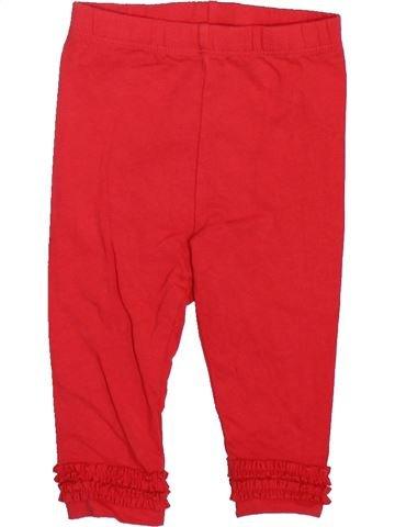 Legging niña GEORGE rojo 6 meses invierno #1498526_1