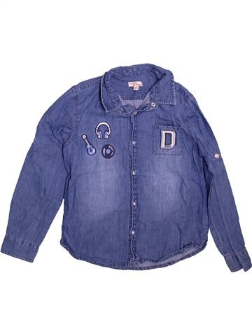 Chemise manches longues garçon DPAM bleu 8 ans hiver #1498549_1