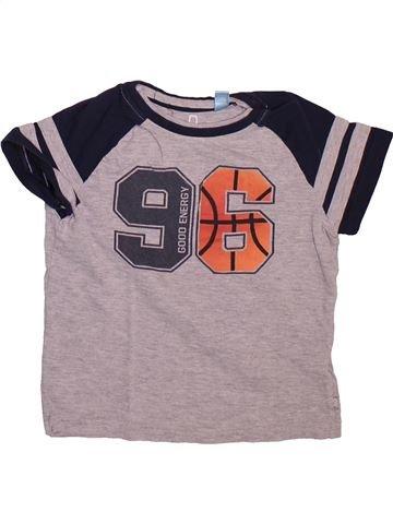 T-shirt manches courtes garçon OKAIDI violet 5 ans été #1498578_1