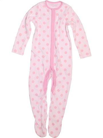 Pyjama 1 pièce fille F&F rose 12 mois été #1498772_1