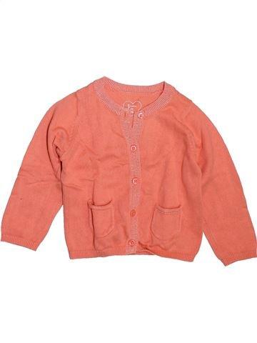 Chaleco niña GRAIN DE BLÉ naranja 12 meses invierno #1498797_1