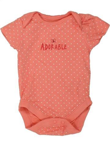 T-shirt manches courtes fille GEORGE orange 3 mois été #1498818_1