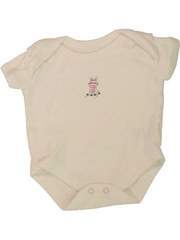 Camiseta de manga corta niña MATALAN beige 0 meses verano #1498834_1