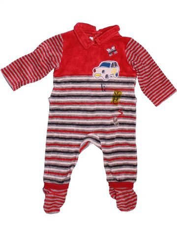 Pyjama 1 pièce garçon MARÈSE violet 6 mois hiver #1498837_1
