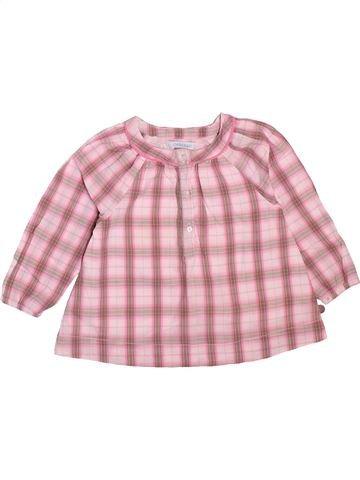 Blusa de manga larga niña OKAIDI rosa 12 meses invierno #1498908_1