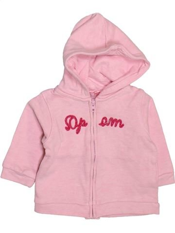 Sweat fille DPAM rose 3 mois hiver #1498909_1