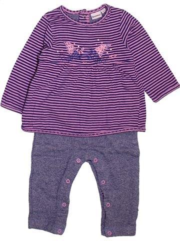 Combinación larga niña 3 POMMES violeta 6 meses invierno #1498919_1