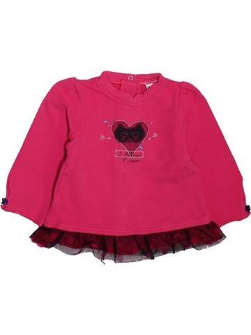 Camiseta de manga larga niña 3 POMMES rosa 6 meses invierno #1498925_1