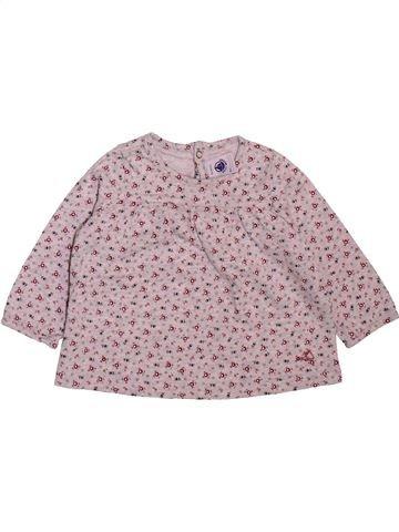 Camiseta de manga larga niña PETIT BATEAU rosa 6 meses invierno #1498929_1