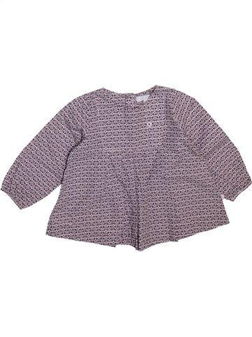 Blusa de manga larga niña OKAIDI gris 6 meses invierno #1498934_1