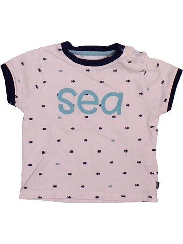 Camiseta de manga corta niño OKAIDI rosa 6 meses verano #1498955_1